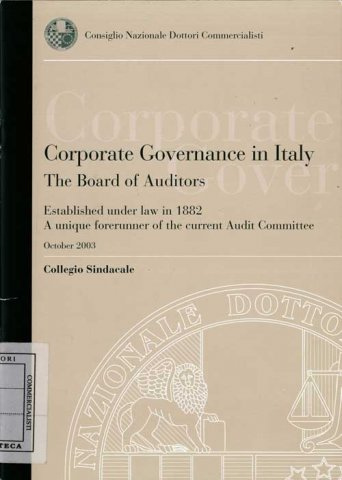 Corporate Governance in Italy (October 2003)